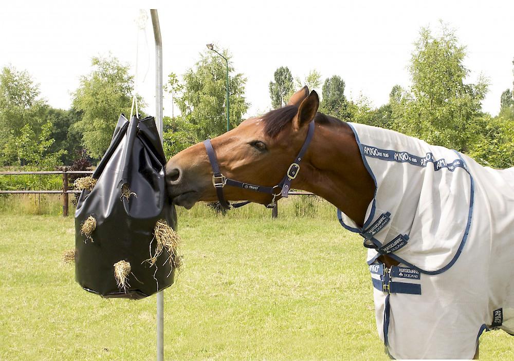 Hay play bag slowfeeder paard